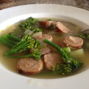 Spicy Sausage with Broccoli Rabe Soup