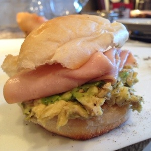 Ham and Avocado Sandwich
