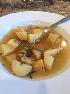 Potato and Rosemary Soup