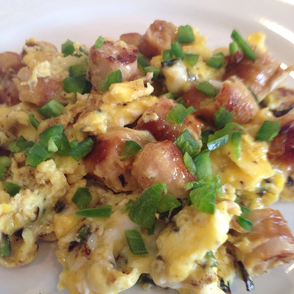 Jalapeño and Sausage Scramble