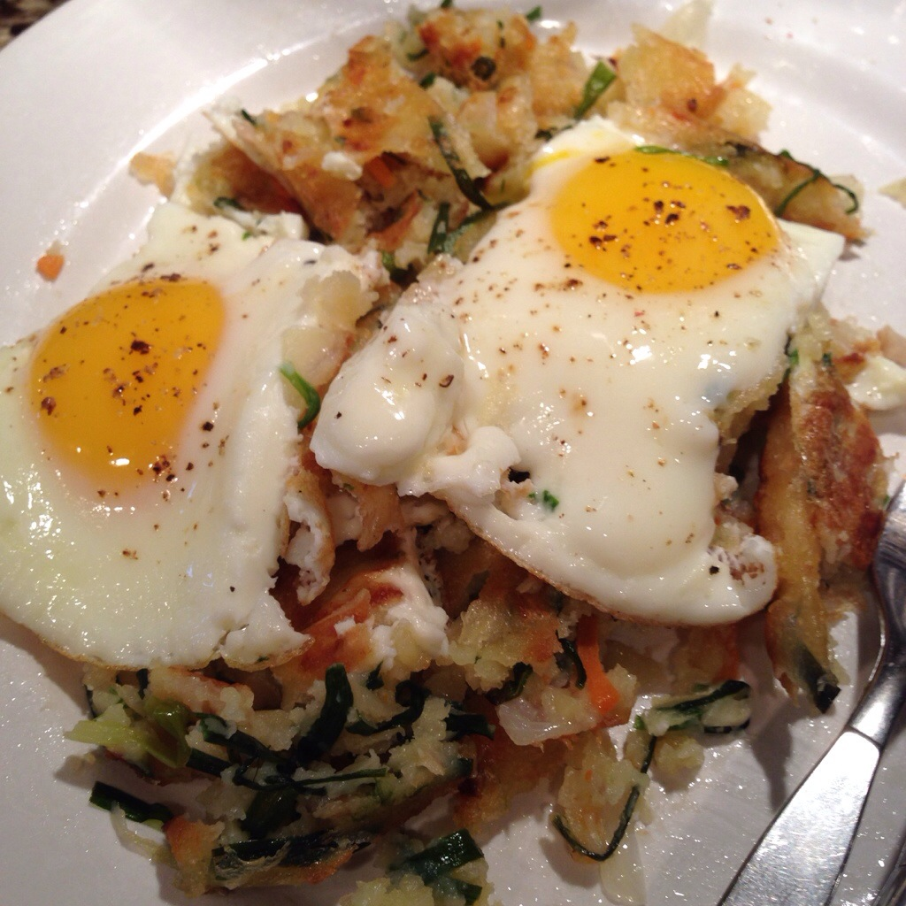 Leeks, Carrots, and Zucchini Hash