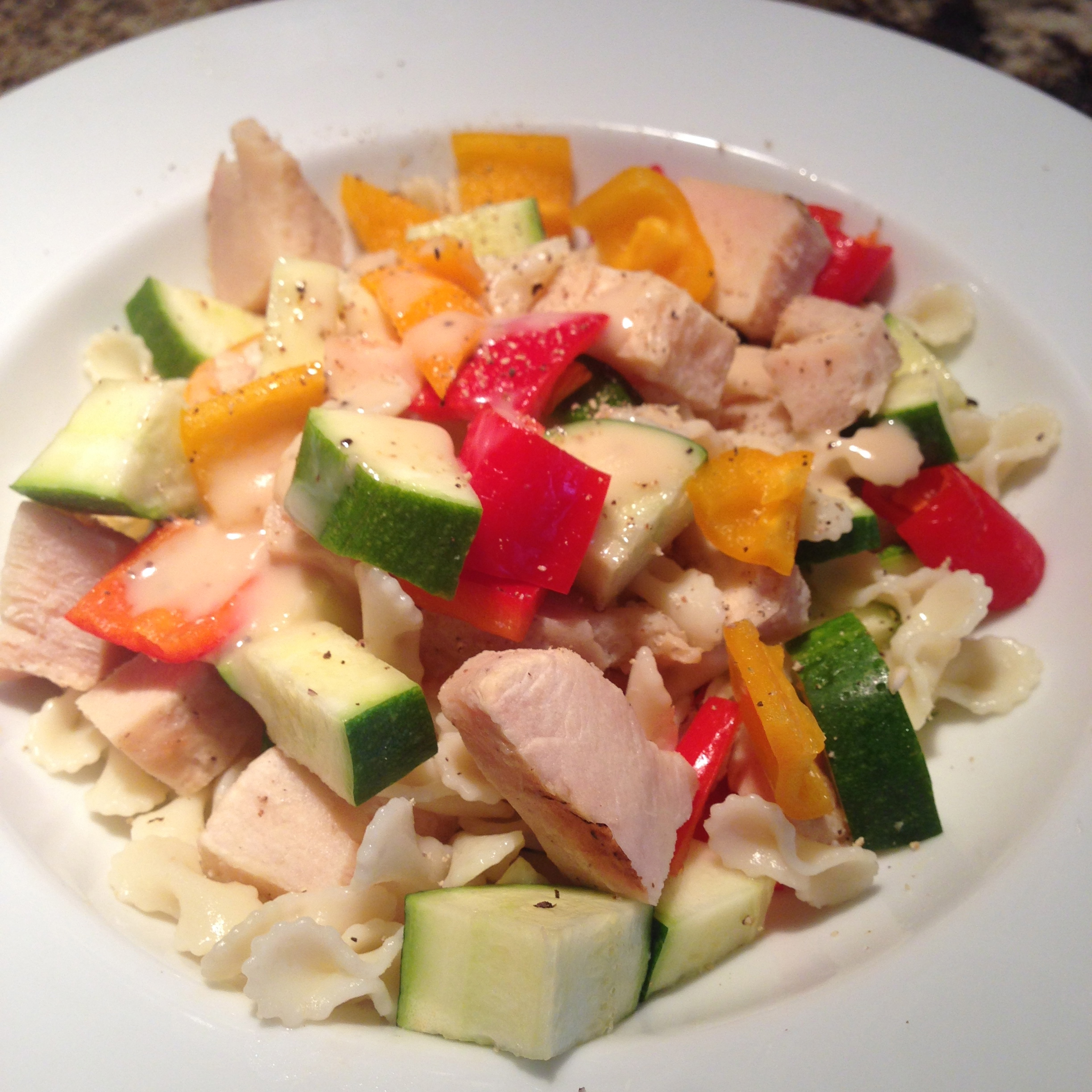Chicken, Zucchini, and Bell Pepper Pasta