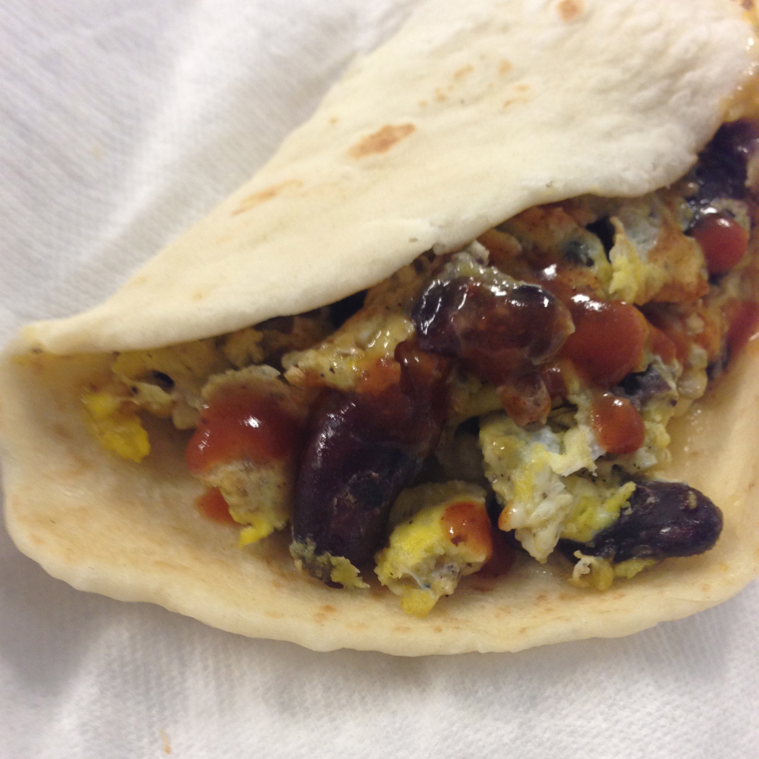 Black Bean and Egg Burrito