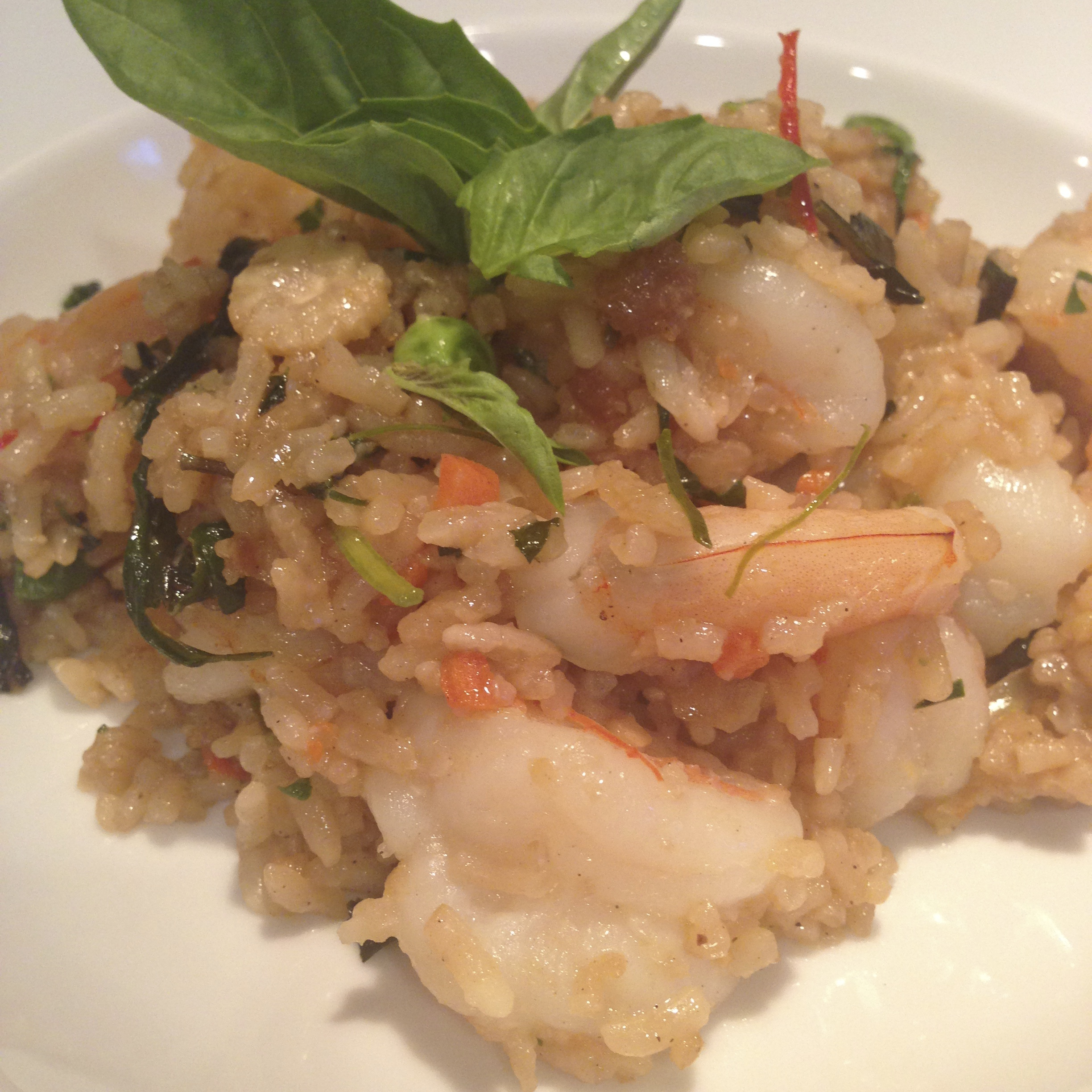 Shrimp with Basil and Ginger Rice