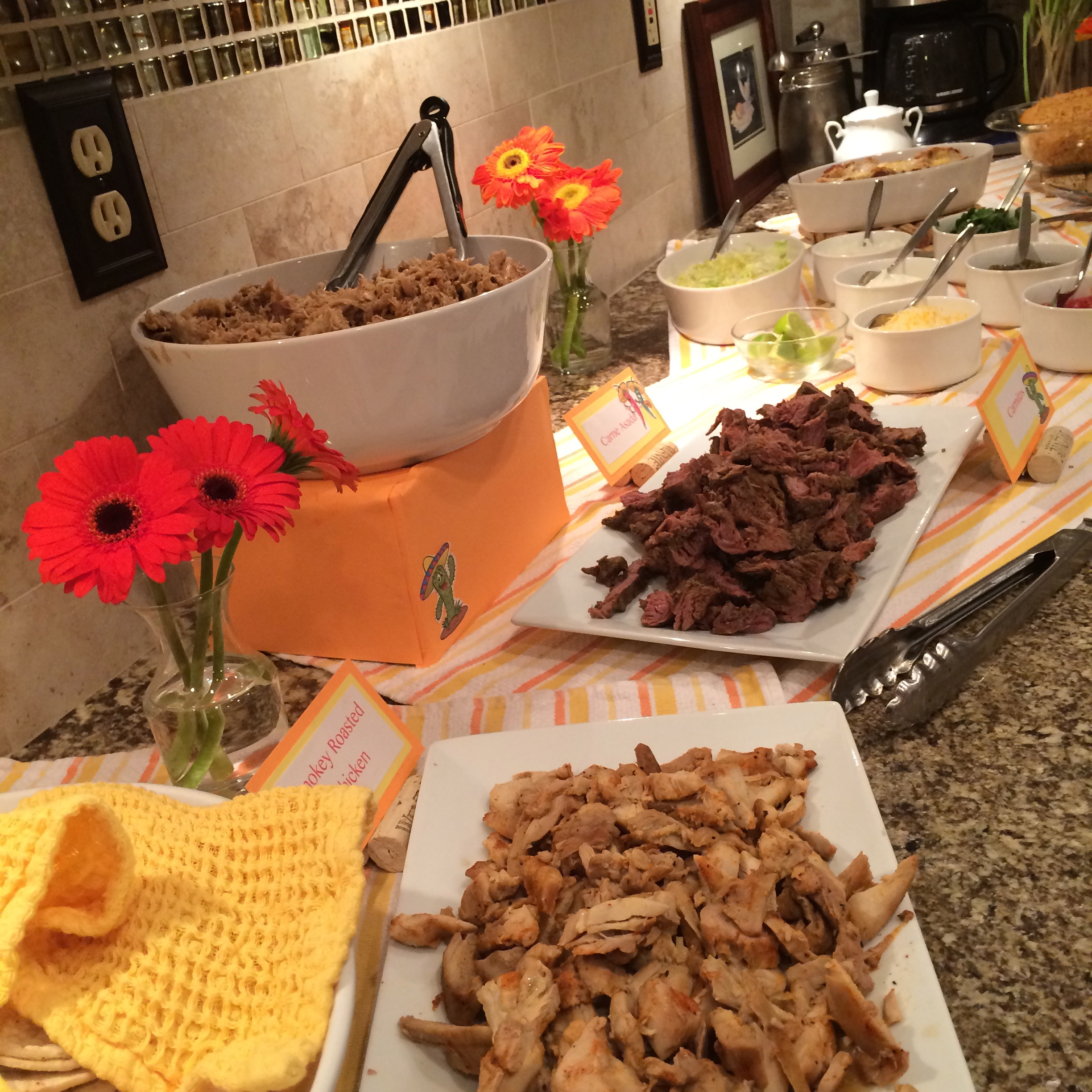 Awesome Taco Dinner Party Ideas Part - 1: To Make Sure That I Got To Enjoy The Party And Not Get Stuck In The Kitchen  All Night I Did All Of The Prep And Cooking Ahead Of Time.