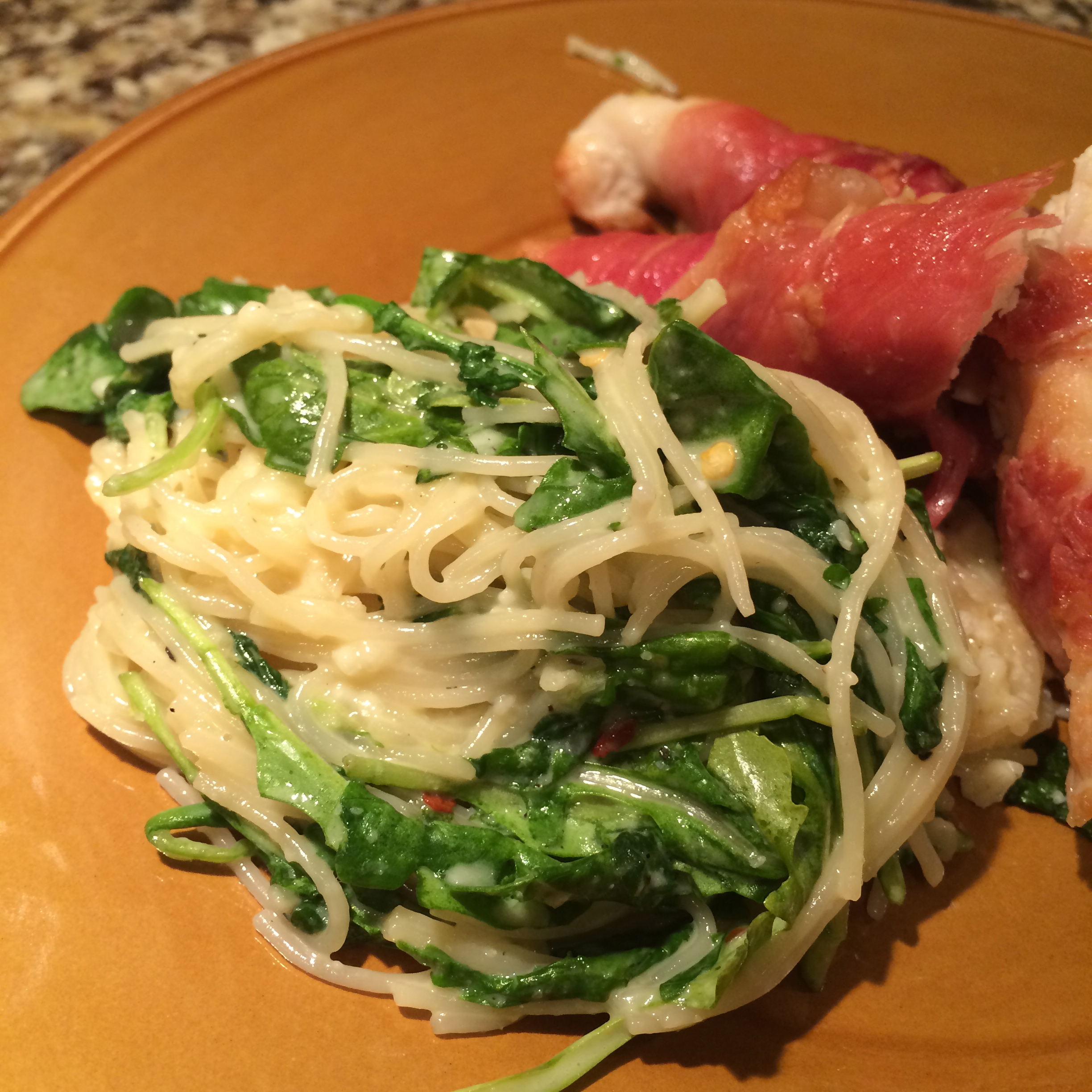 Angel Hair Pasta with Spinach and Lemon