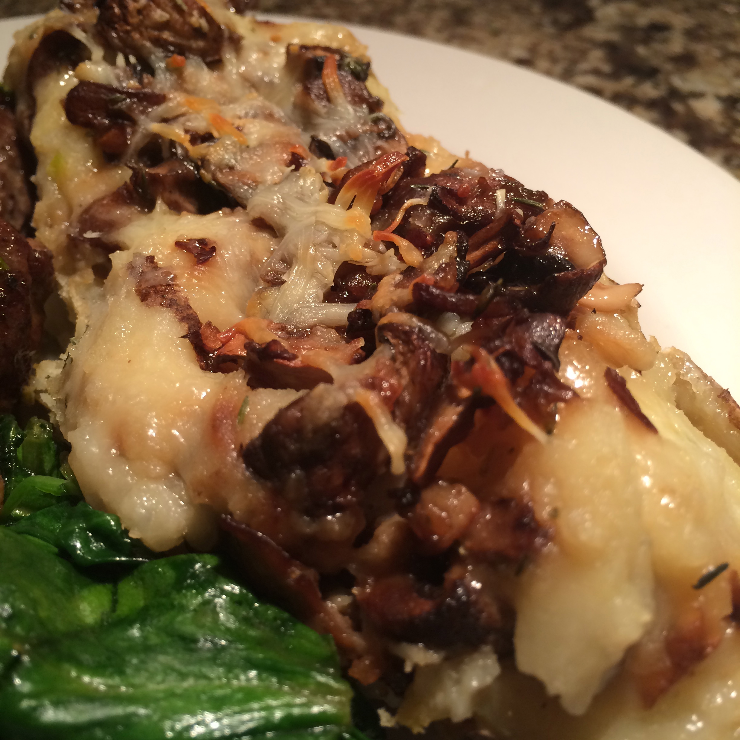 Mushroom and Monterey Jack Stuffed Potatoes