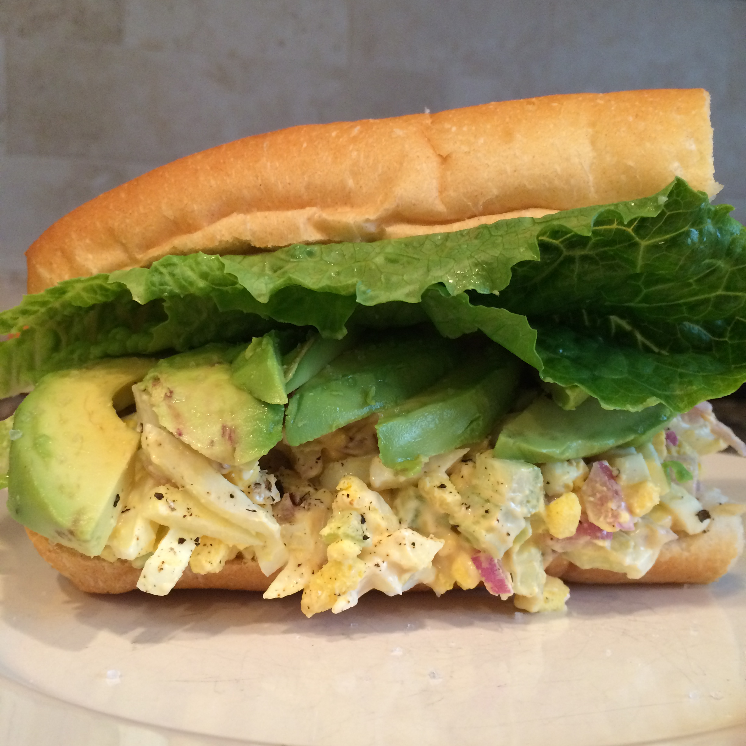 Egg Salad and Avocado Sandwich