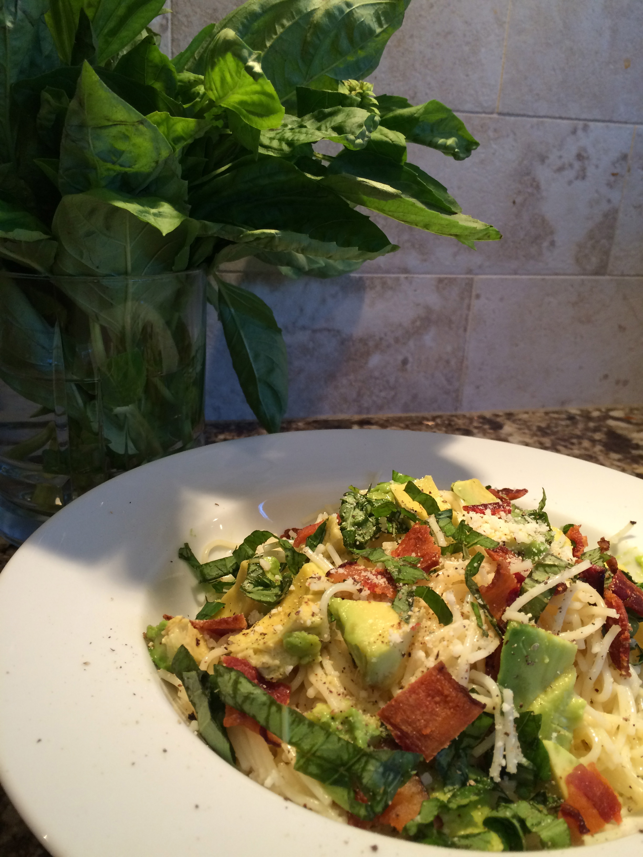 Bacon and Avocado Pasta Salad