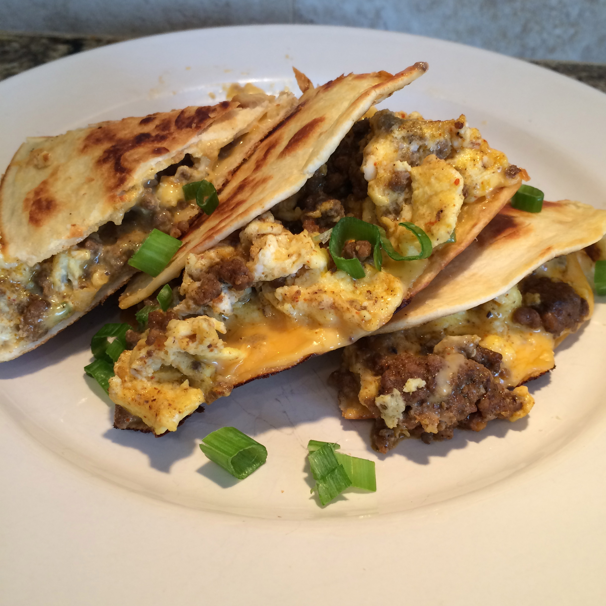 Egg and Sausage Quesadilla