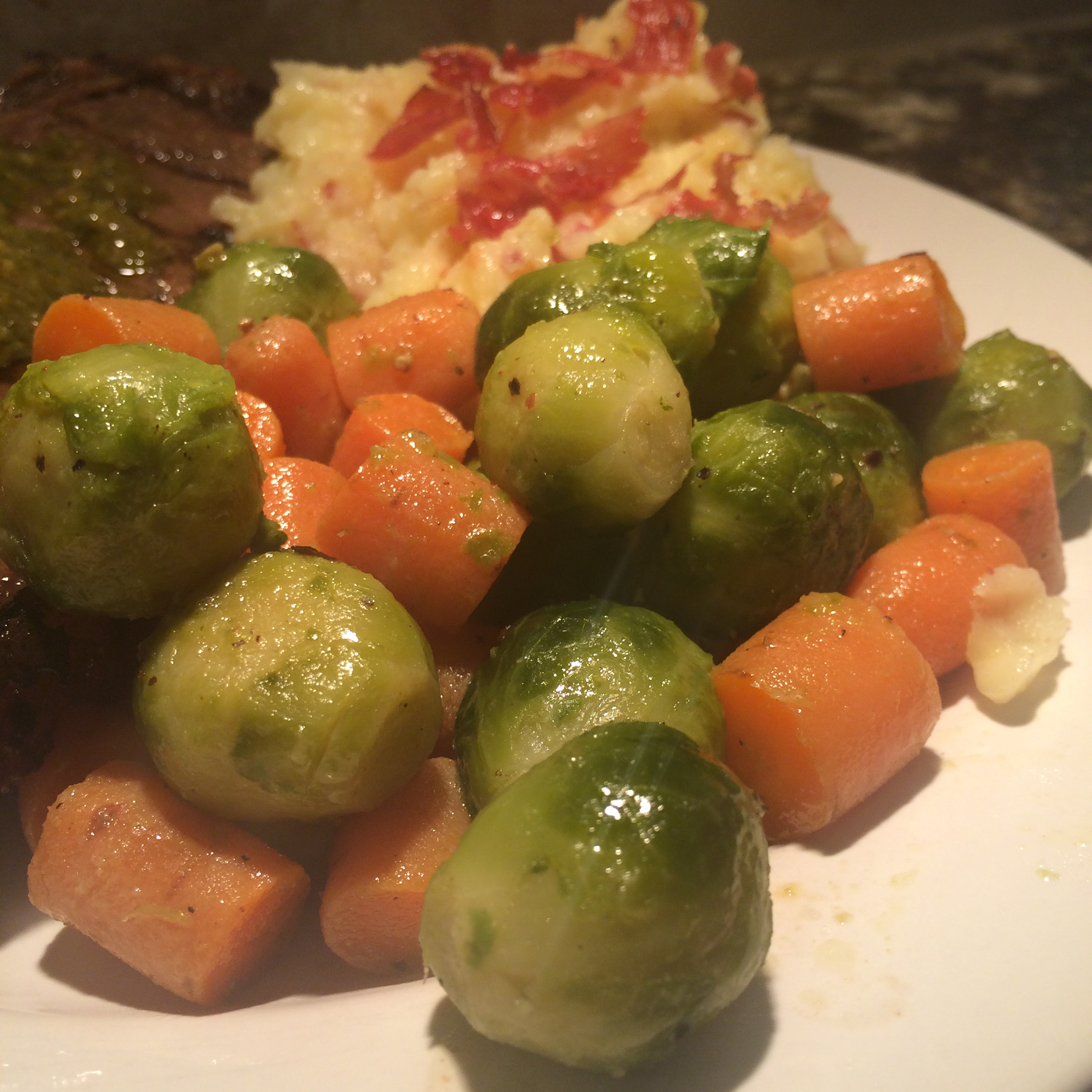Brussel Sprouts and Carrots