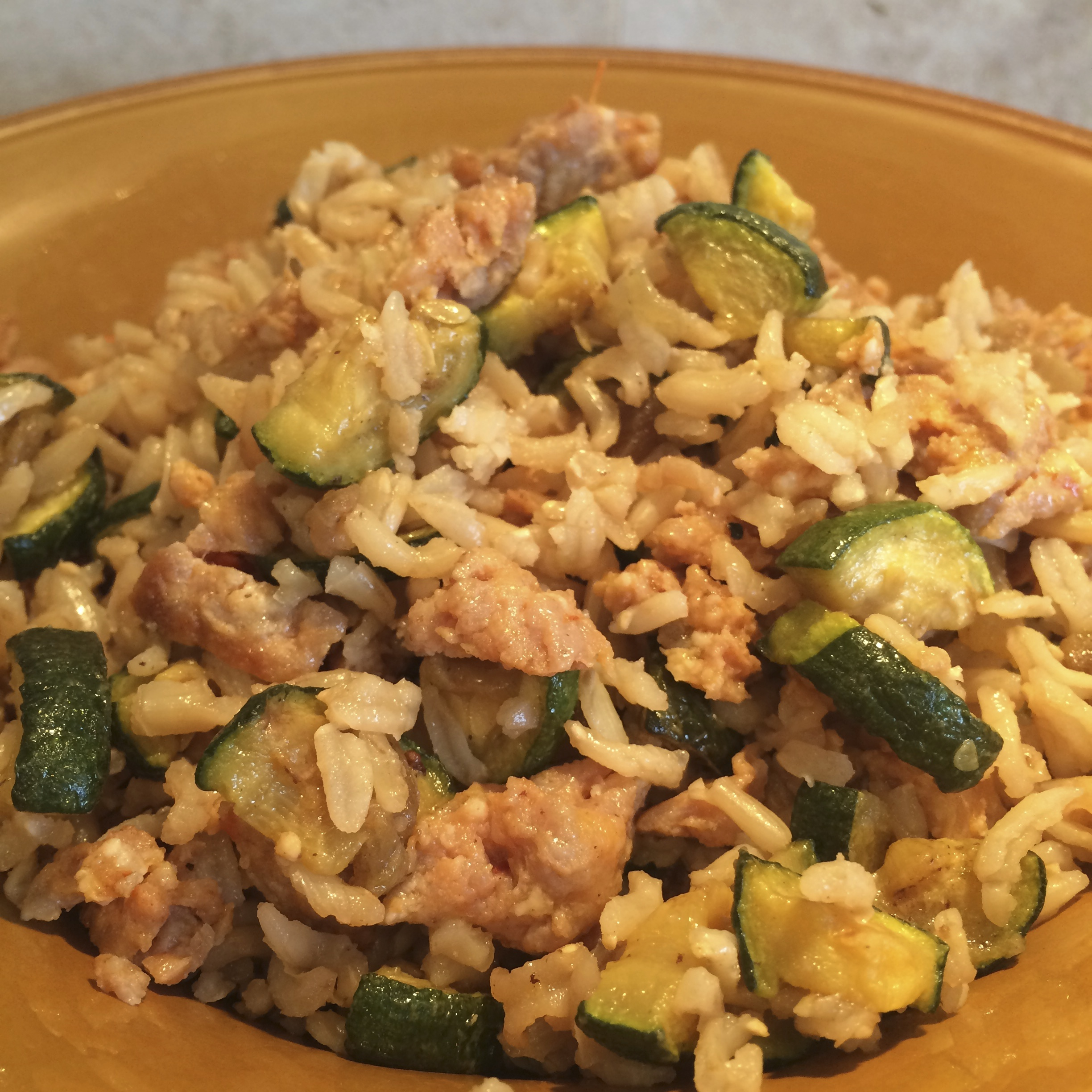 Sausage and Zucchini Rice
