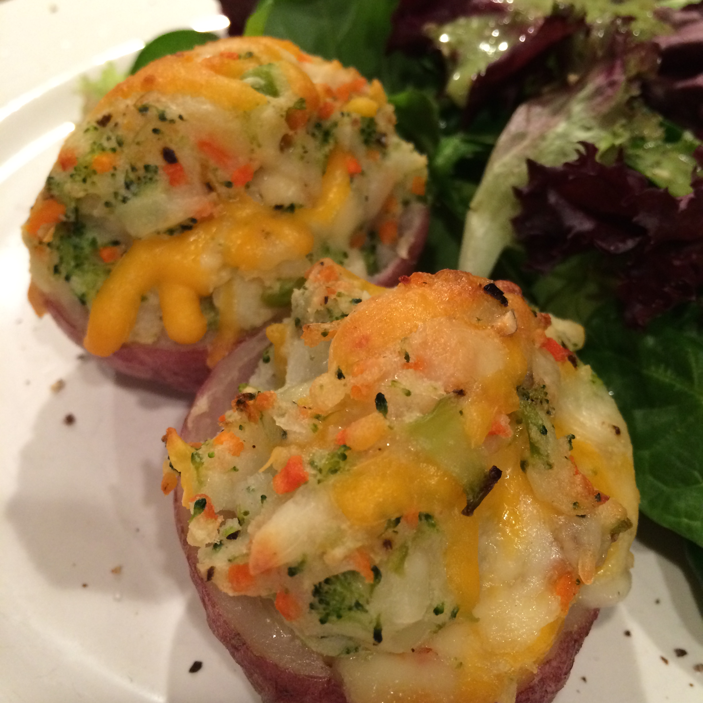 Twice Baked Vegetable Potatoes