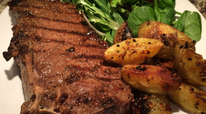 Simply Grilled Steak and Potatoes