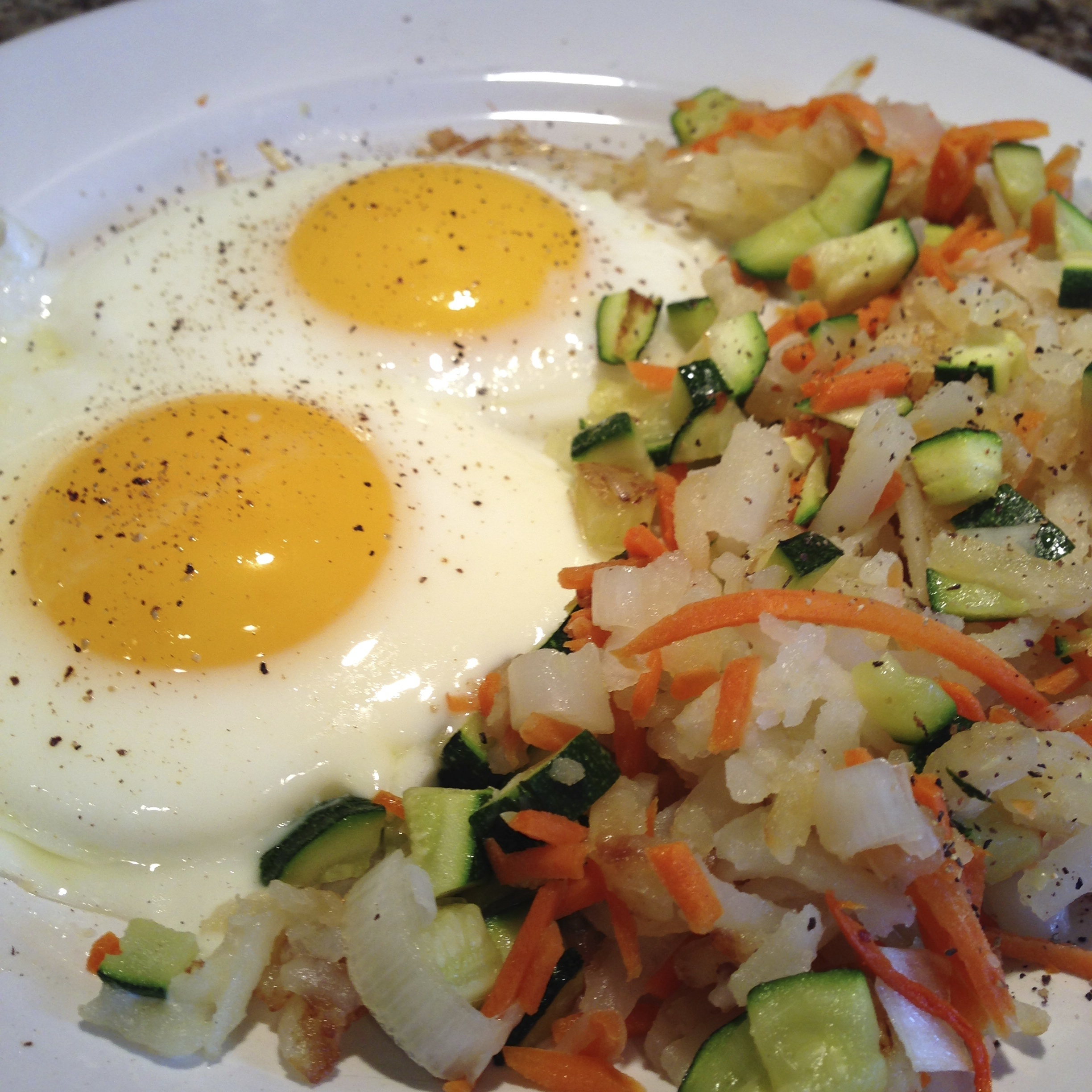 Carrot and Zucchini Hash Browns