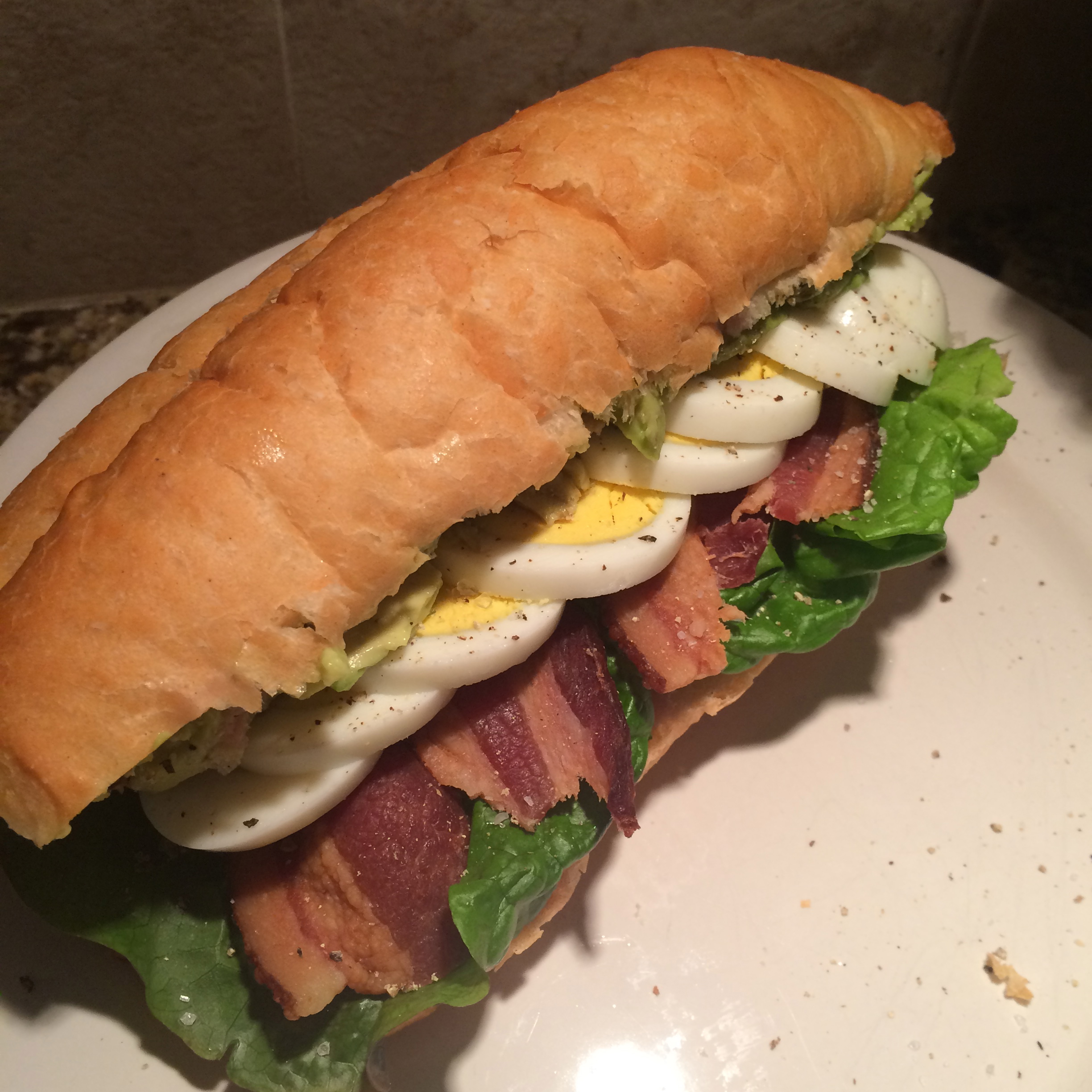 Avocado, Bacon and Egg Sandwich